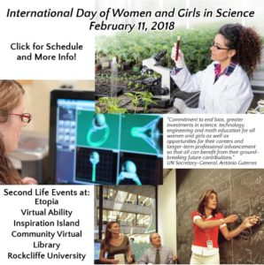 International Day of Women and Girls in Science (Feb 11) Rockcliffe